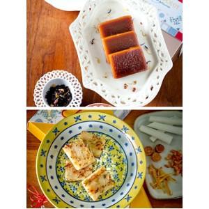 伯爵茶年糕 + 富貴銀魚沙葛糕