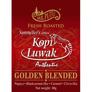 100g - KOPI LUWAK GOLDEN BLENDED (SOMMELIER SERIES) ( Can Version )