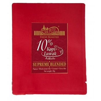 10% KOPI LUWAK SUPREME BLENDED COFFEE - Single pack